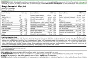 Shakeology Shakes Nutrition Facts and Ingredients