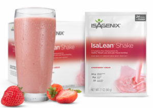 310 Isagenix Shake in French Vanilla has 8g of fiber and 24g of carbs.