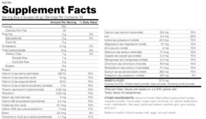 Arbonne Nutrition Facts and Ingredients