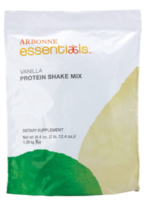 Arbonne Shakes have 160 calories and 20g of protein per serving.