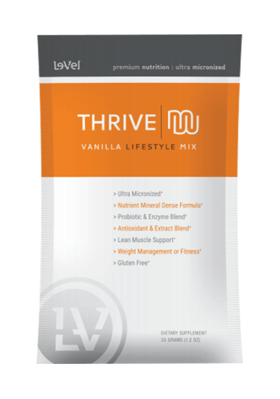 Thrive Shake by Le-Vel is part of a 3-step healthy lifestyle program.