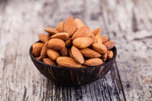 almonds and other nuts can hep you achieve healthier cholesterol levels and are high in plant based protein