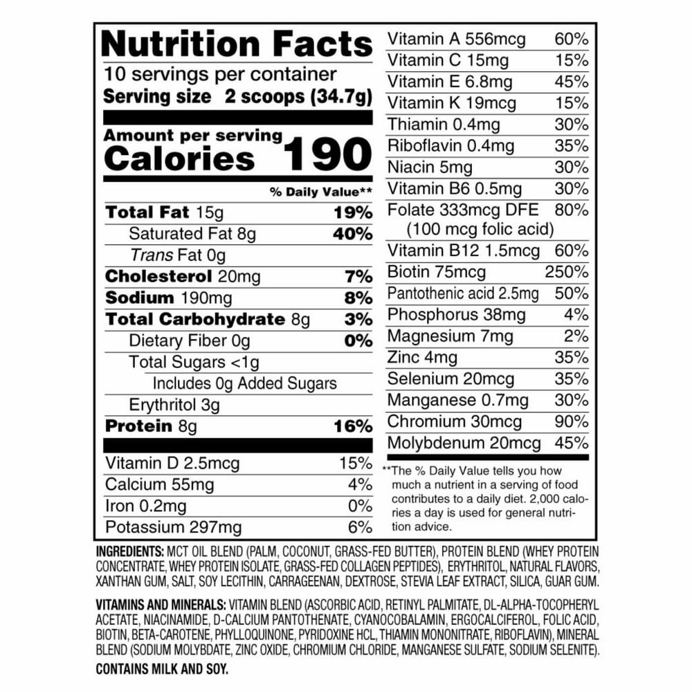Slimfast-Keto-Nutrition-Facts and Ingredients