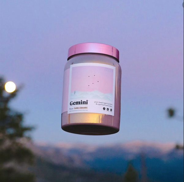 gemini meal replacement shake with sunset