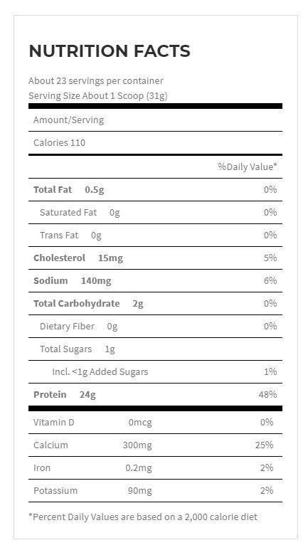 quest nutrition label